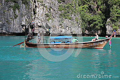 Long-tail boat Editorial Image