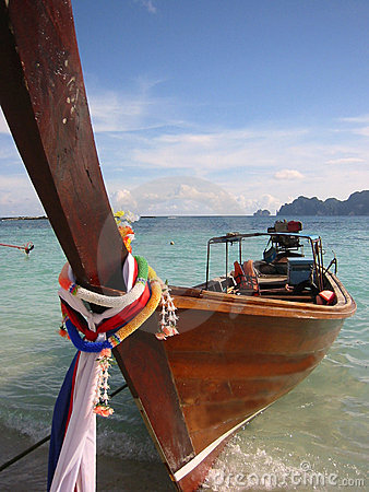 Long tail boat ko phi phi island thailand