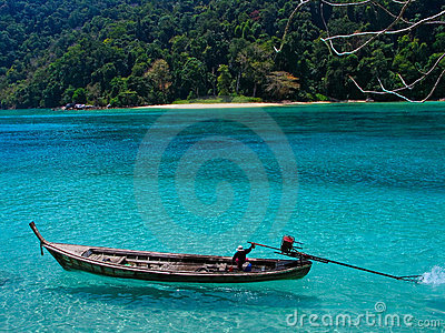 Long-tail Boat at Surin Island, Thailand