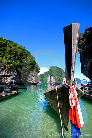 Free Long Tail Boats In Thailand Stock Images - 3743314