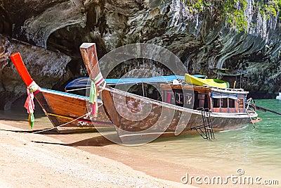 Long tail boats on Phang Nga Bay