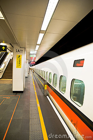 The long Taiwan High Speed Rail from one side to t