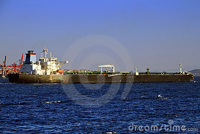 Long tanker ship