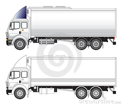 Long truck vector illustration