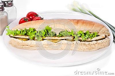Long vegan sandwich