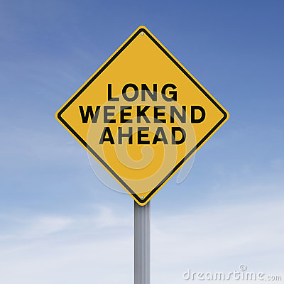 Free Long Weekend Ahead Royalty Free Stock Photography - 57822917
