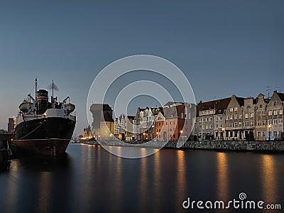Long Wharf in Gdansk, Poland