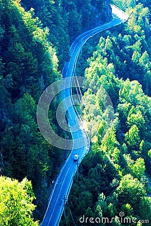 Free Long Winding Mountain Road Royalty Free Stock Photo - 3077165