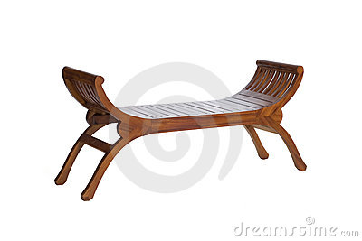 Long wooden chair