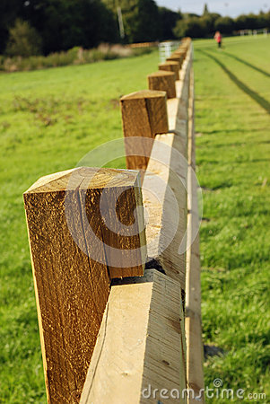 Long wooden fence.