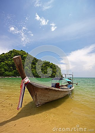 Longboat on beach