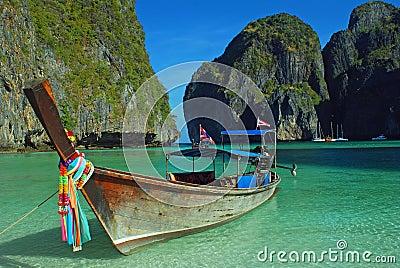 Longboat at maya bay