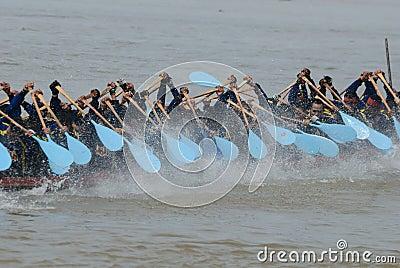 Longboat racing Editorial Photo