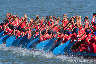 Longboat racing in Pattaya, Thailand Editorial Image