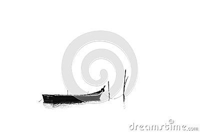 A longboat on the seashore 2