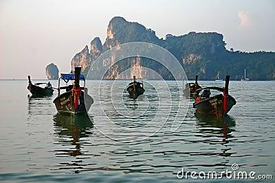 Longboats at Phi Phi Island