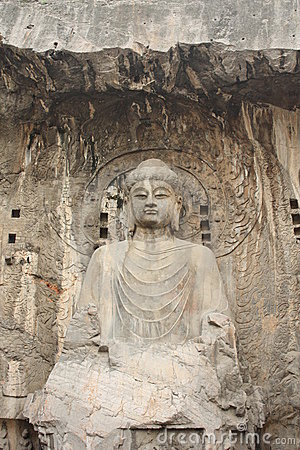 Free Longmen Caves In Luoyang. Statue Of Buddha. Stock Photography - 16477302