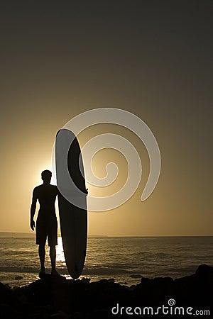 Longoard bij zonsondergang 3