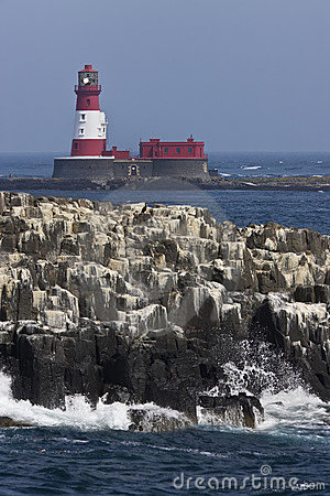 Longstone Lighthouse in the Farne Islands - UK