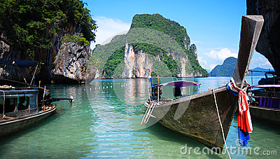 Longtail-Boote in Thailand