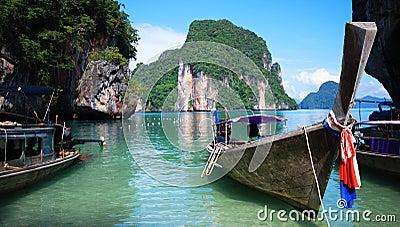 Longtail łodzie w Tajlandia