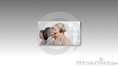 Longueur de centre d'appel banque de vidéos