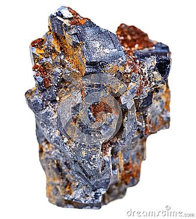 Loodglans minerale kristallen