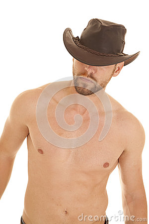 Free Look Away Hat Bare Chest Stock Image - 28097731
