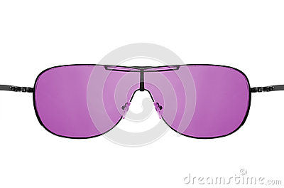 Look through pink sunglasses