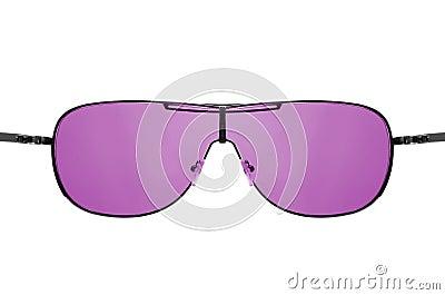 Look through pink sunglasses