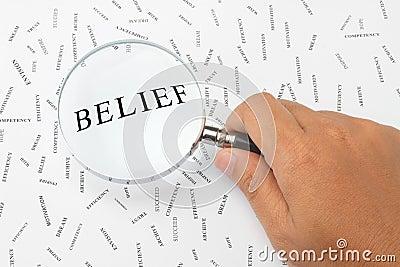 Looking for belief.