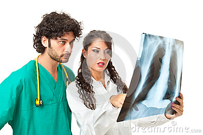 Looking at a chest radiography