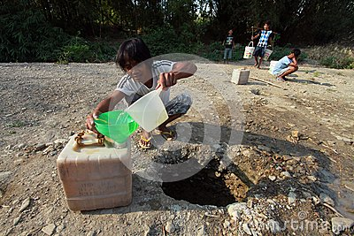 Looking for clean water Editorial Stock Photo