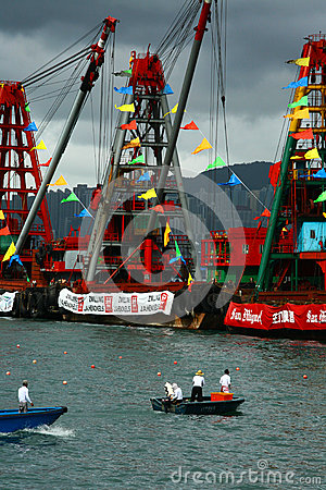 Hong Kong Dragon Boat Carnival Editorial Stock Photo