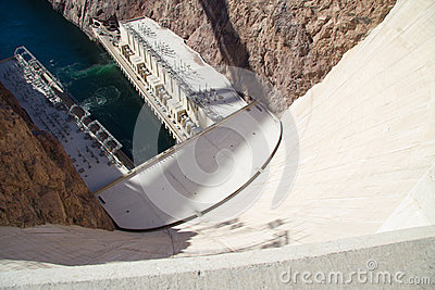 Looking down from the Hoover Dam