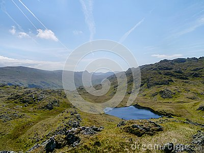 Looking down on Tarn at Leaves, Lake District