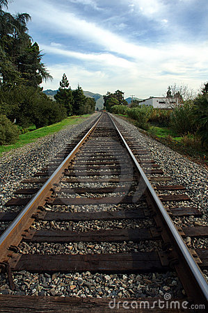 Free Looking Down The Track Stock Photo - 2069650