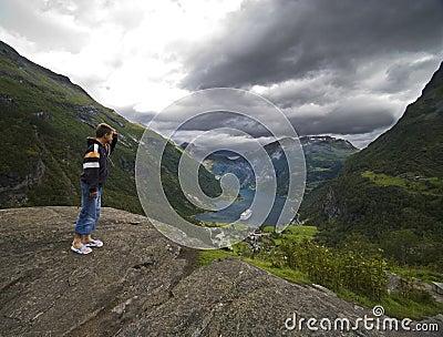 Looking at Geirangerfjord