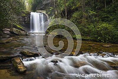 Looking Glass Falls North Carolina Blue Ridge Parkway Appalachian Waterfalls