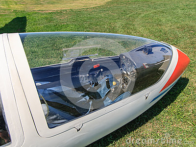 Looking Through Glider Canopy Editorial Image