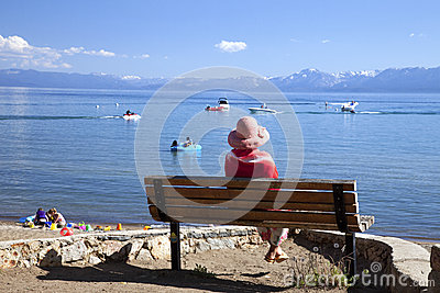 Looking out on the lake, Lake Tahoe CA.