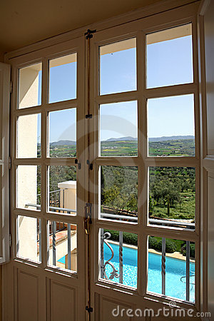 Free Looking Out Of A Window To A Beautiful Sunny Day Stock Photo - 678670
