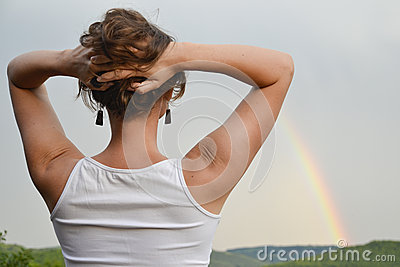Looking at the rainbow
