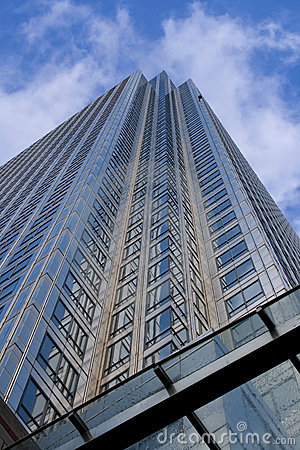 Free Looking Up A Very Tall Steel Office Building Stock Images - 5171584