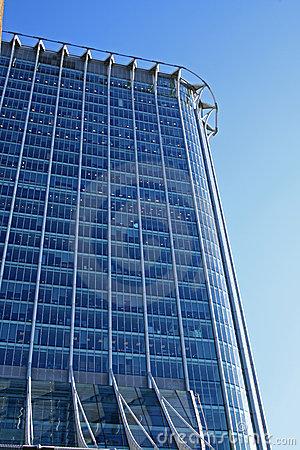 Free Looking Up At Blue Glass Reflective Office Stock Photo - 4643540