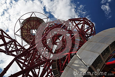 Looking up at The Orbit, Olympic Park, London Editorial Photo