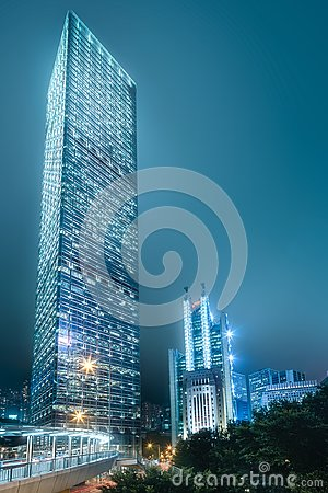 Free Looking Up To Skyscrapers From Below Hong Kong Stock Image - 121441861