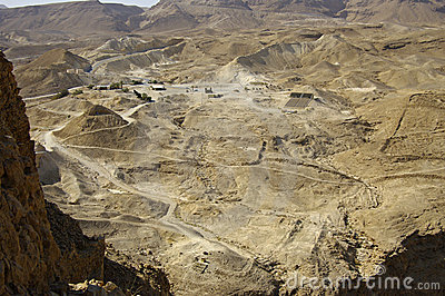 Looking west from the fotress of Masada.
