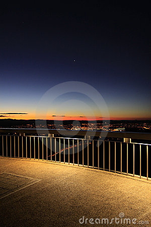 Lookout in Canberra at dusk