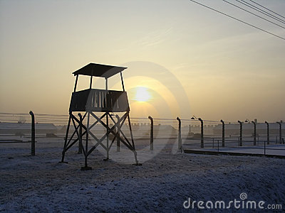 Lookout Fort in Auschwitz Editorial Image